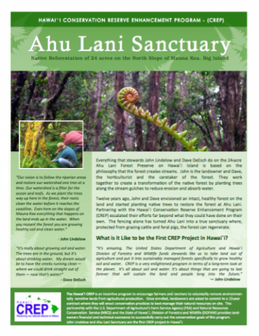 Example of Landowner Outreach Information Sheet